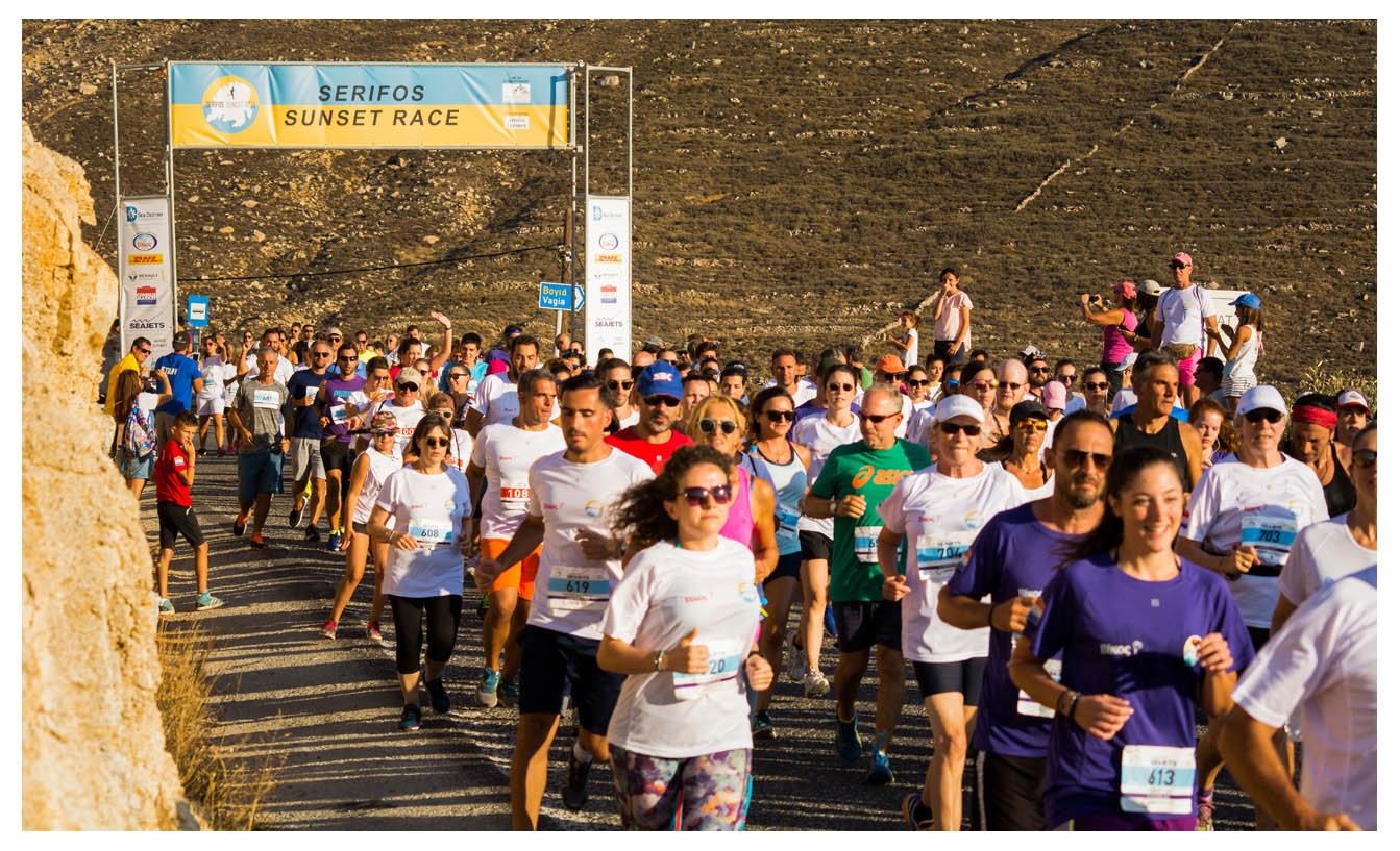Serifos Sunset Race - Running