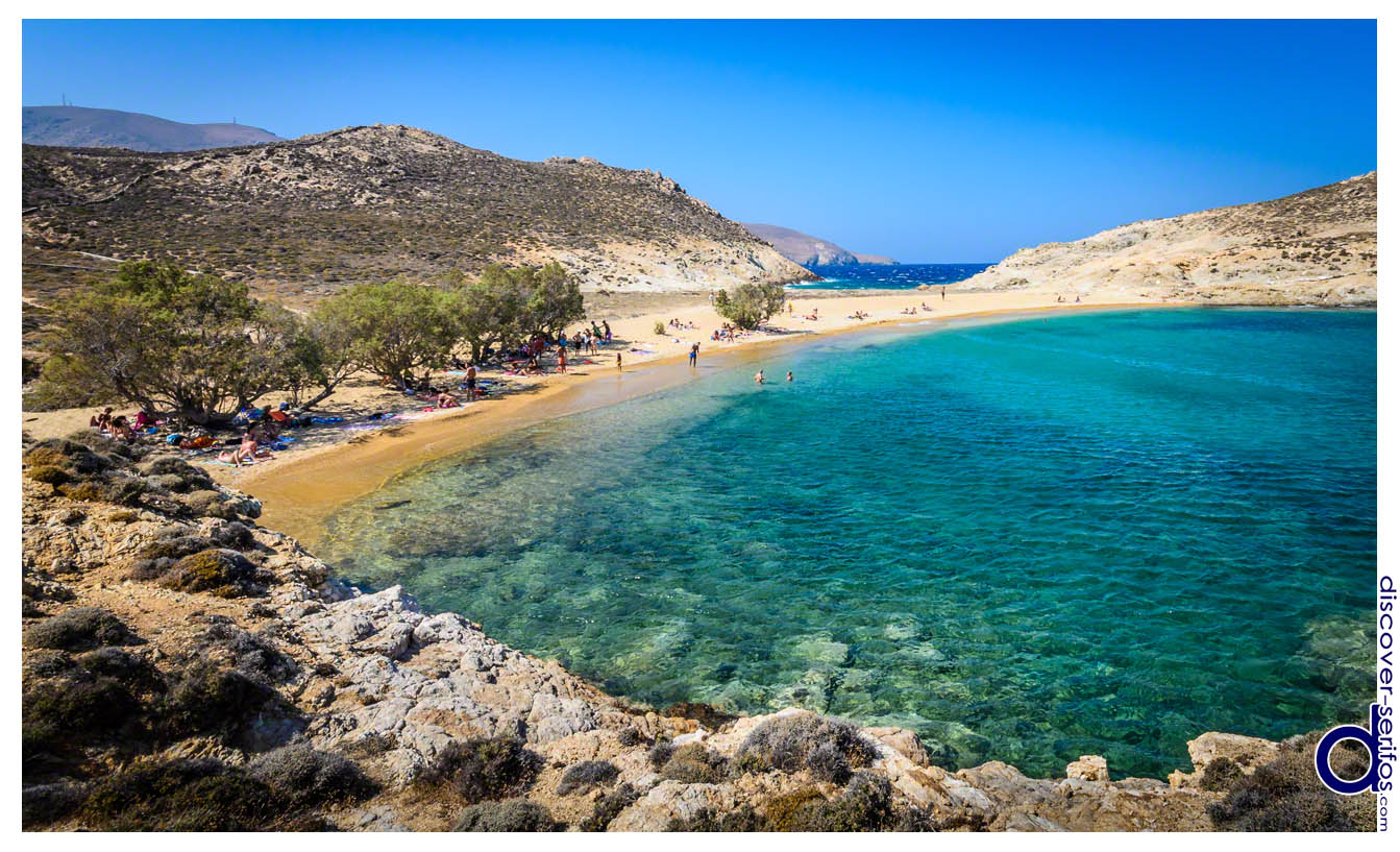 Agios Sostis beach in Serifos