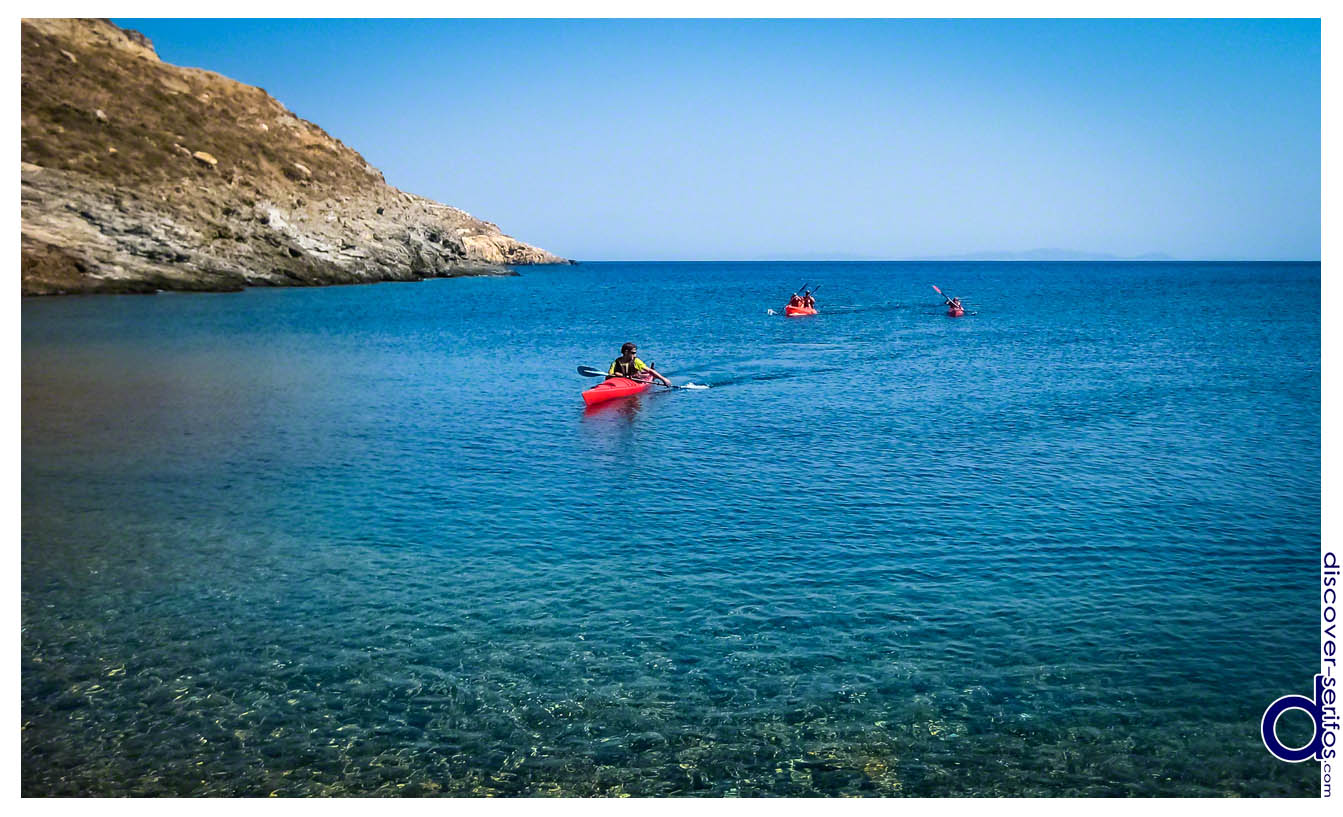 Canoeing at the beach of Malliadiko - Serifos