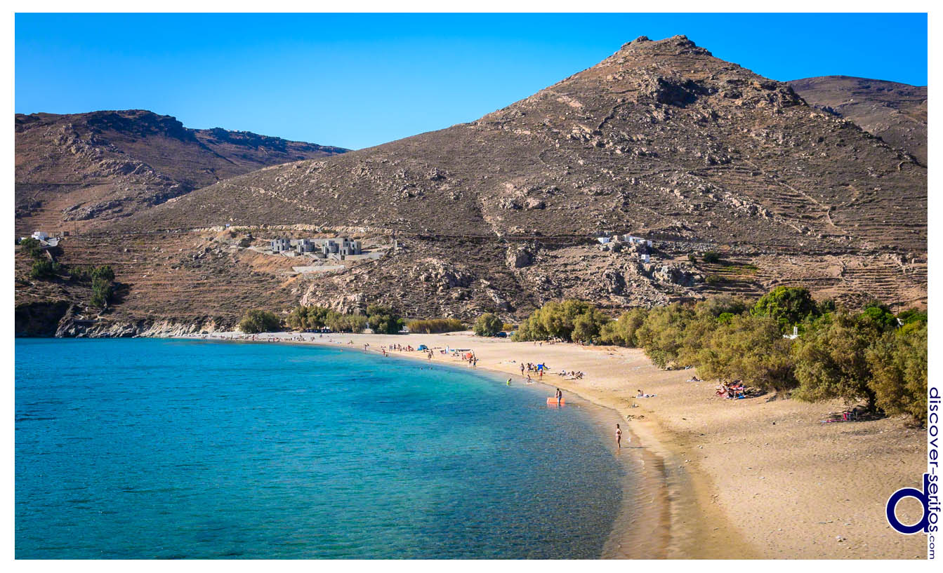 Ganema beach in Serifos