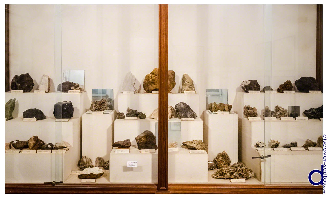 Minerals and rocks in the Folklore museum
