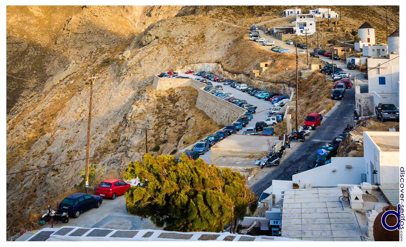 Parking in Chora - Serifos