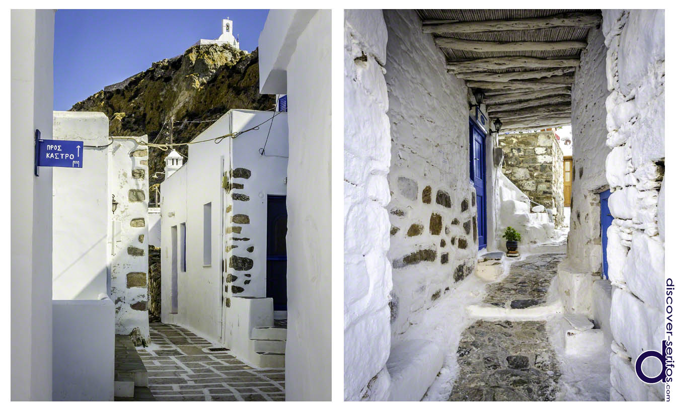 Picturesque alleyways in Ano Chora - Serifos