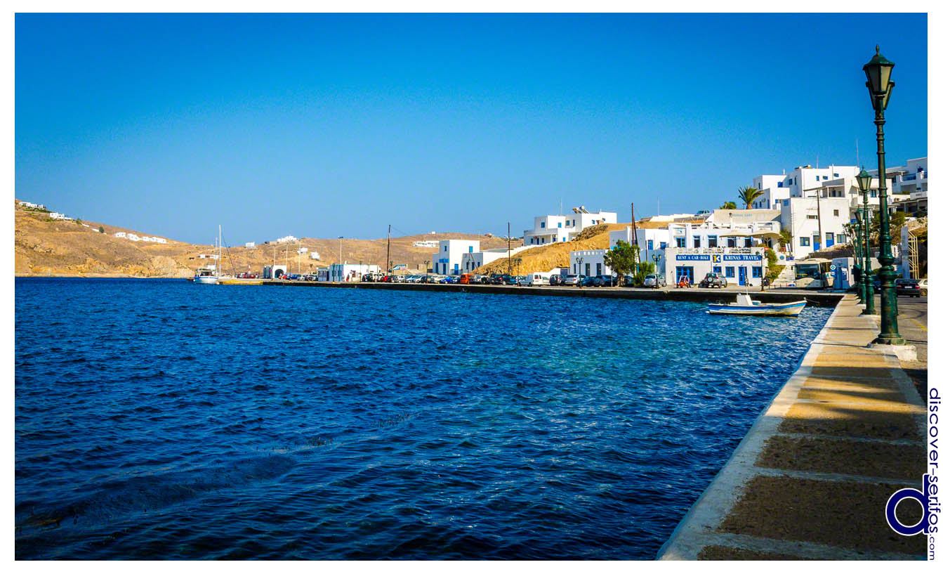 Port of Serifos in Livadi