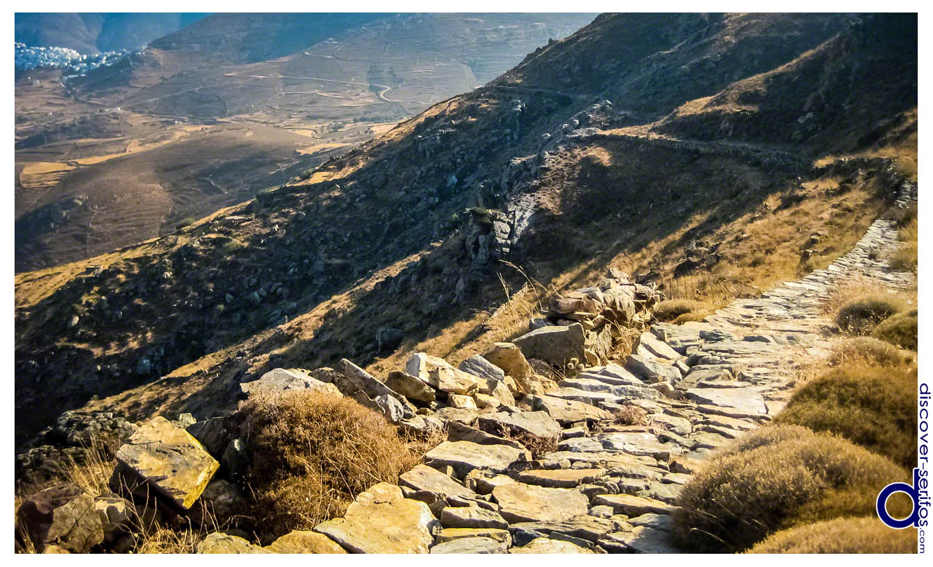 Rocky pathway in Serifos