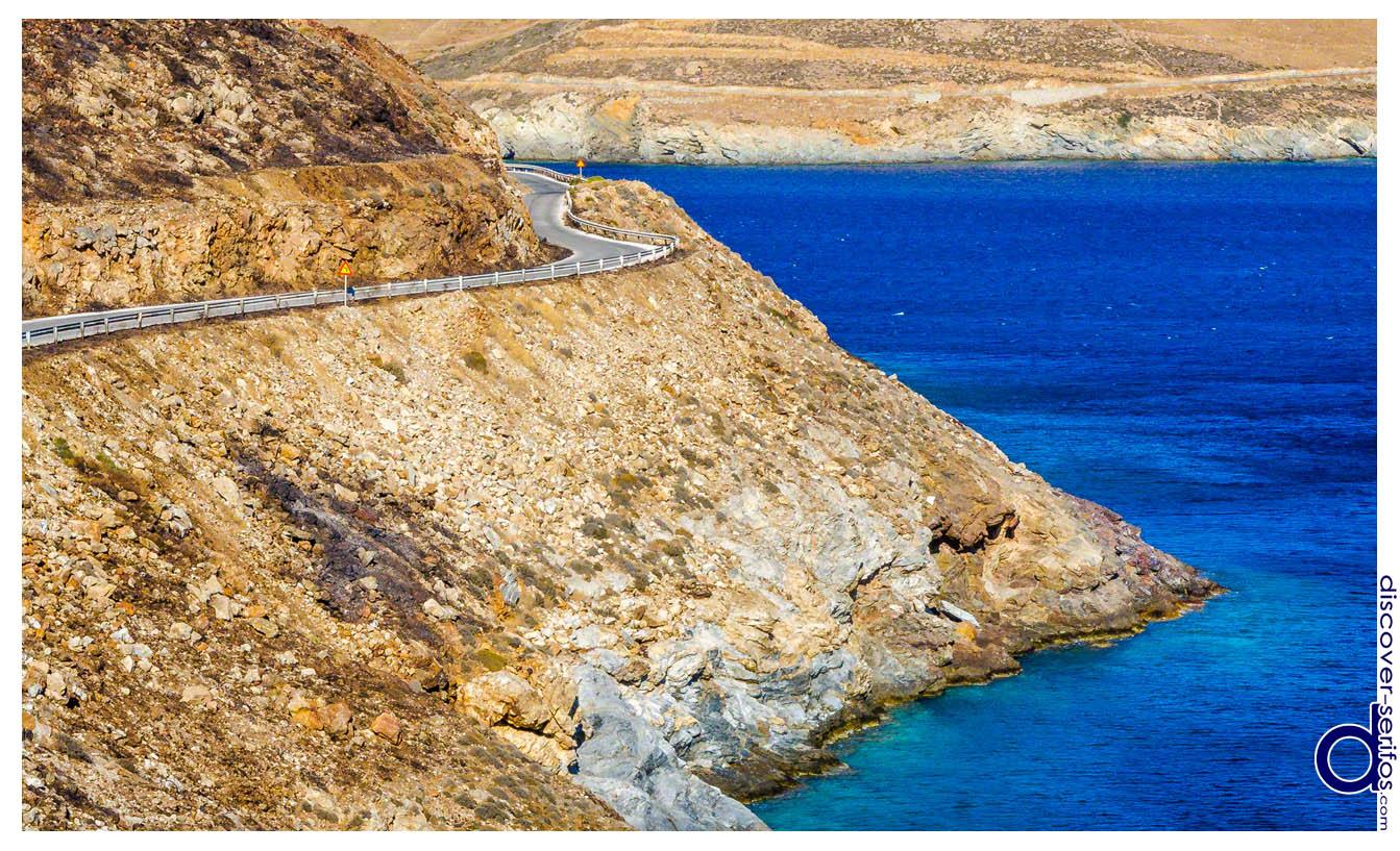 Routes in the island of Serifos