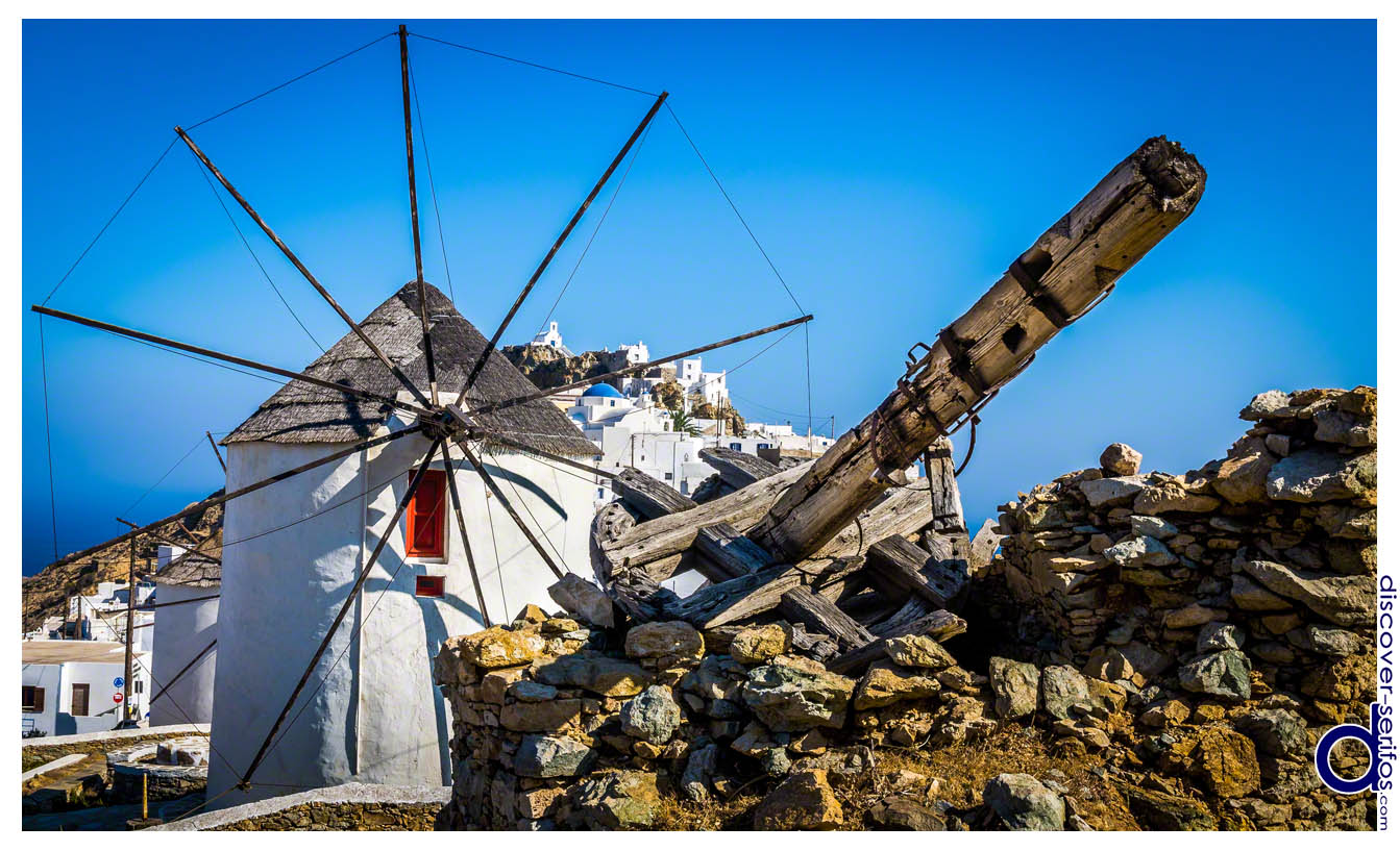 Serifos - Windmills in Pano Chora - Cyclades