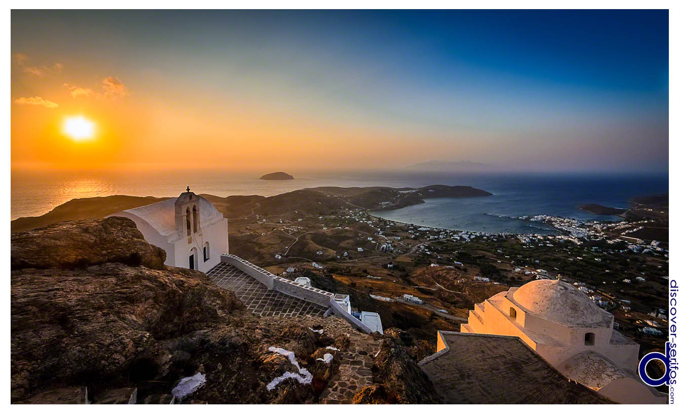 Sunrise at the Castle - Serifos Chora