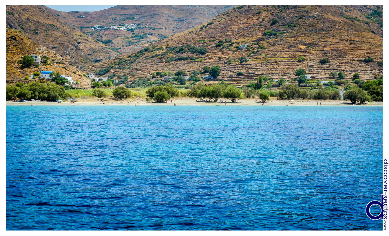 The beach of Sikamia in Serifos