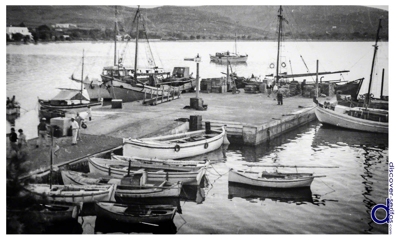 The dock of Livadi - photo from Folklore Museum