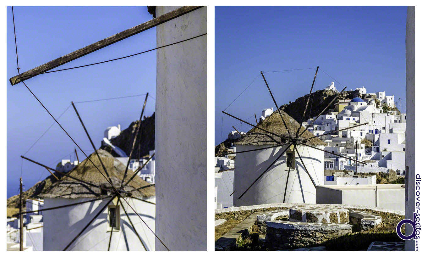 Windmills in Pano Chora of Serifos