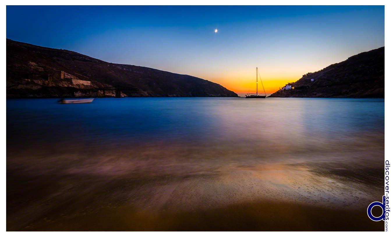 Ηλιοβασίλεμα στο Μέγα Λιβάδι - Σέριφος