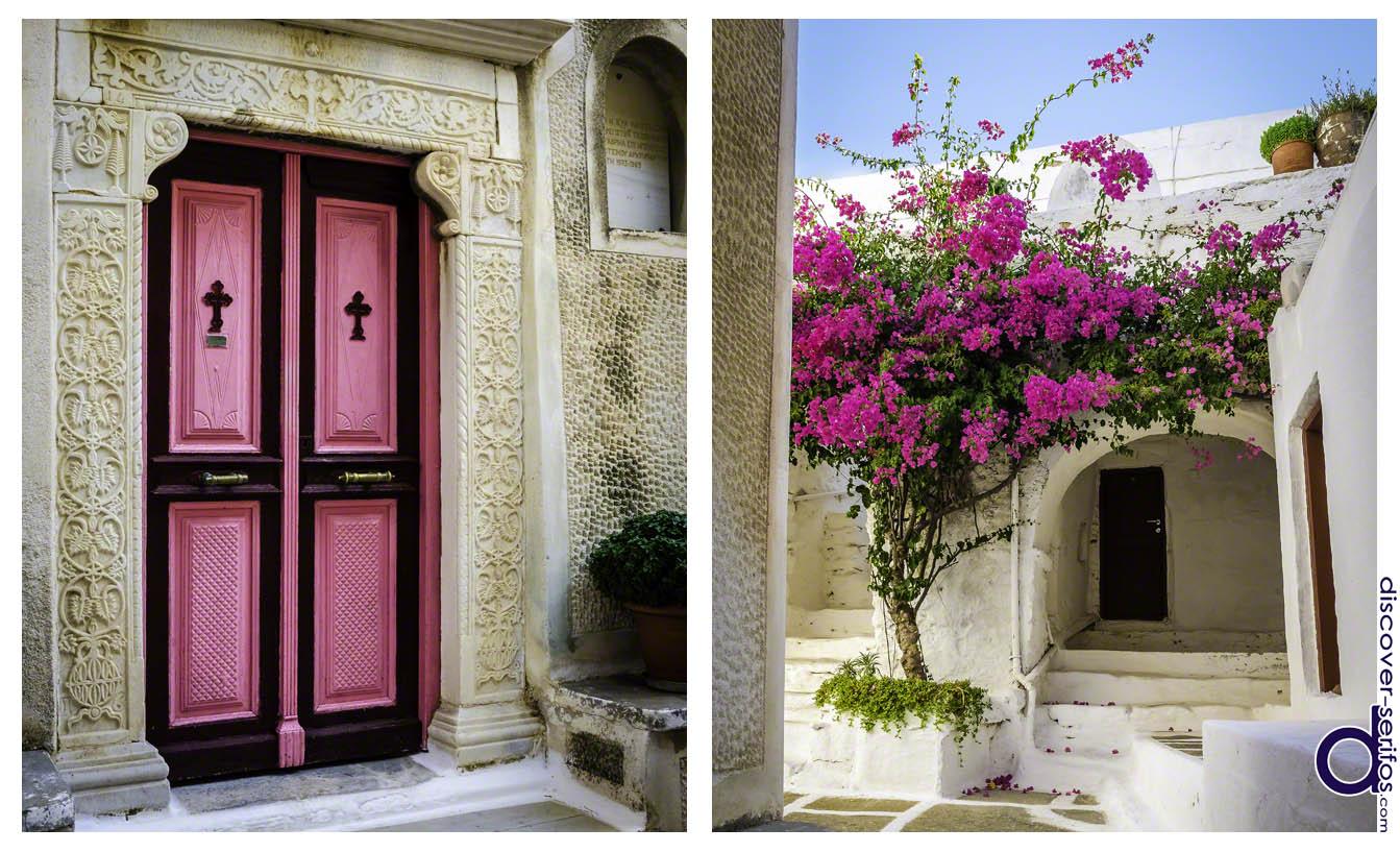 Ναός και αυλή Μονής Ταξιαρχών - Σέριφος