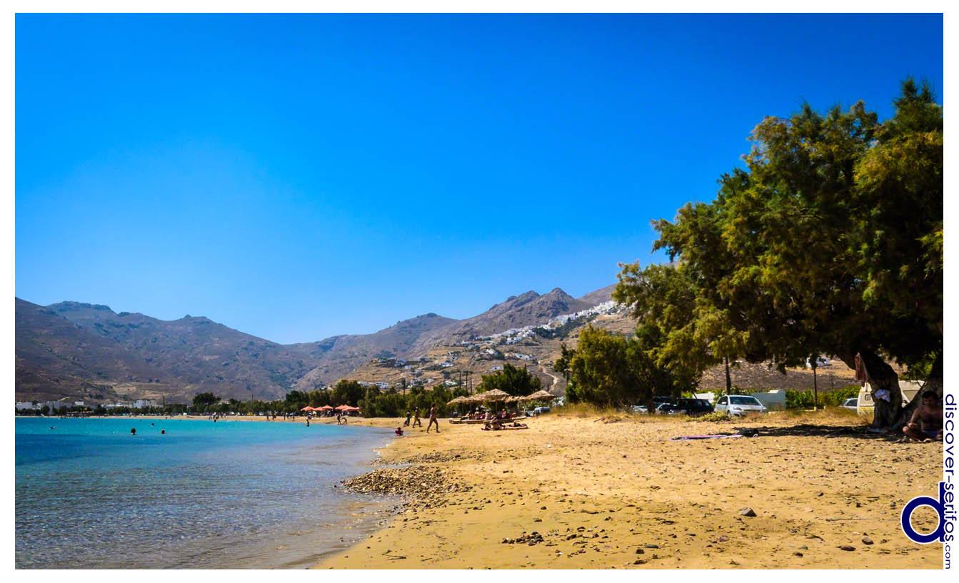 Παραλία Αυλόμωνα στη Σέριφο