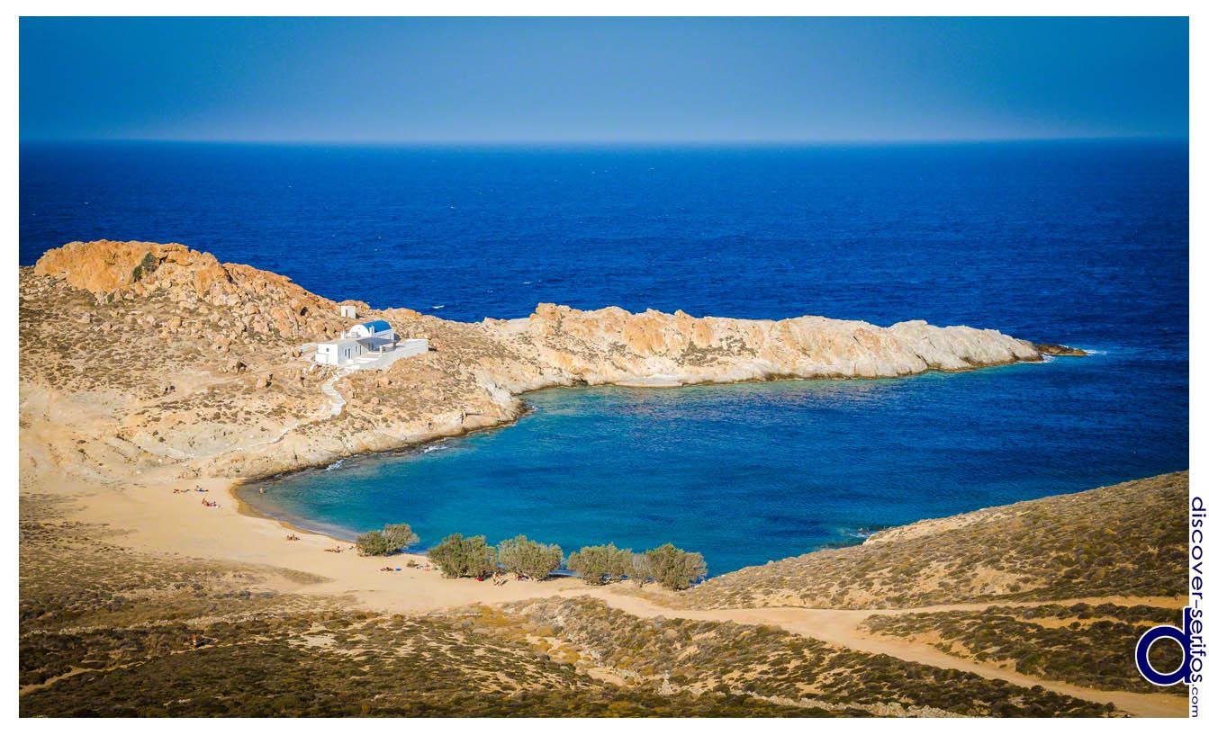 Παραλία και Εκκλησία Άγιου Σώστη