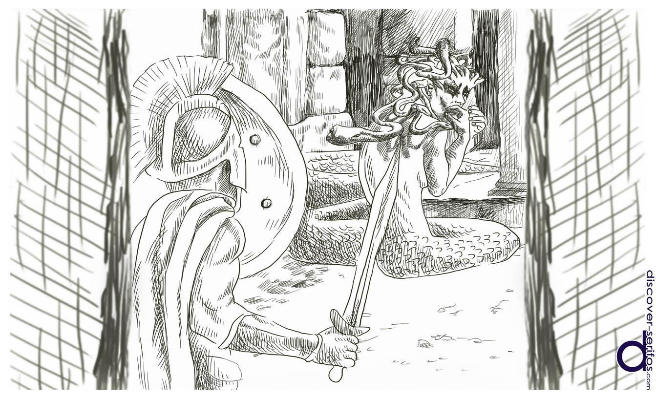 Περσέας και Μέδουσα - Μυθολογία Σερίφου