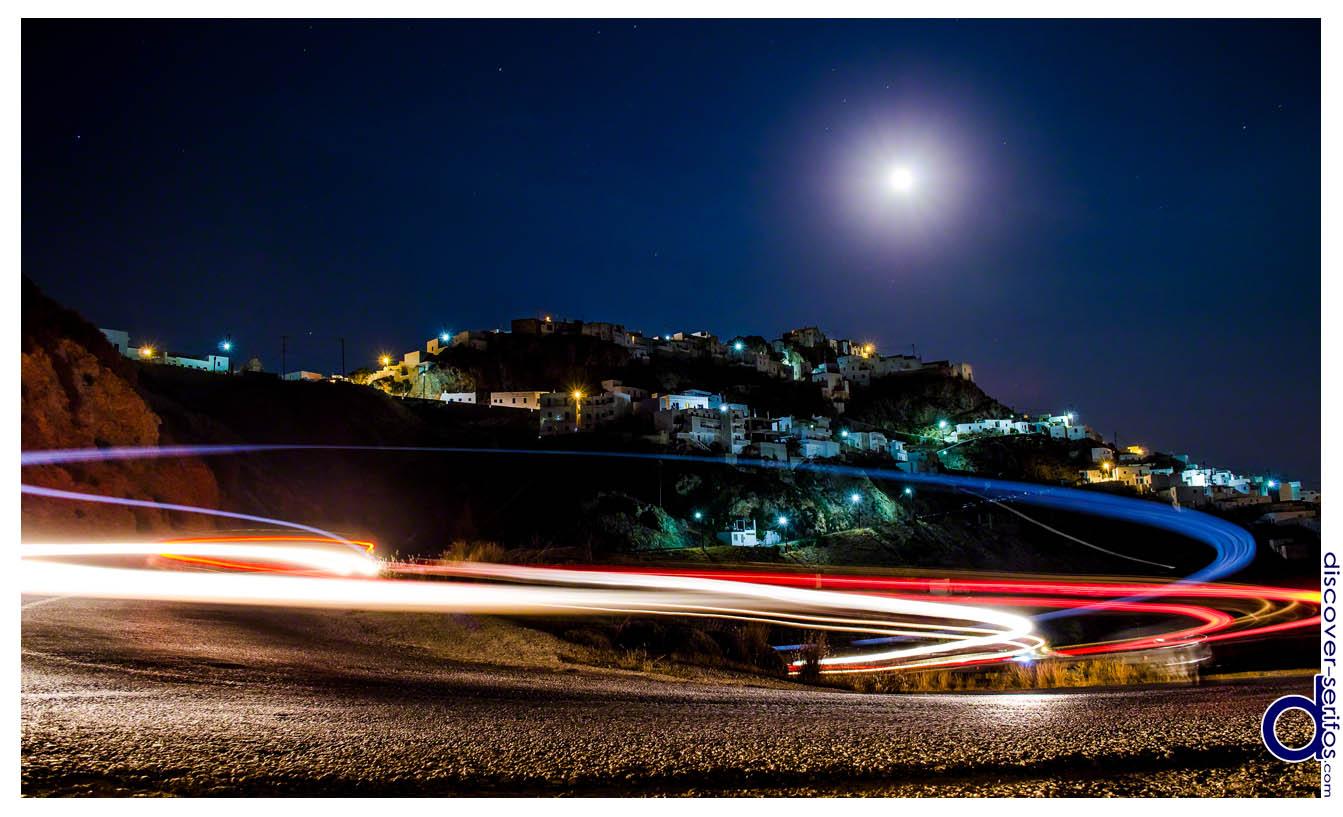 Σέριφος - Φεγγάρι και Κίνηση στη Χώρα
