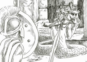 Περσέας, Μέδουσα & Σερίφιος Βάτραχος